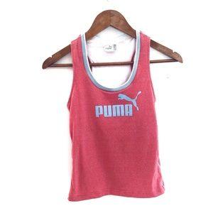 Puma Logo Tank- Retro Red & Blue Size Small